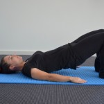 Supine Hip Extension End Position.
